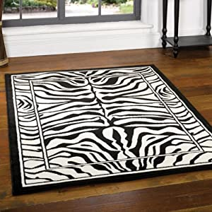Flair Rugs Wildlife Zebra Rug, Black/White, 160 x 220 Cm from Flair Rugs