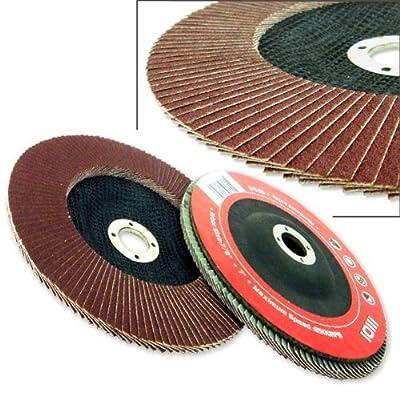 "20 New 4.5"" 60 Grit Flat Flap Disc Neiko Aluminum Oxide Grinding Sanding Wheels"