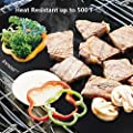 "BBQ Grill Mats Up to 400% Thicker Than Others Set of 3, 16"" x 13"" Works on Gas, Charcoal, Electric Grill and more, 100% Non-stick, Lifetime Guaranteed"
