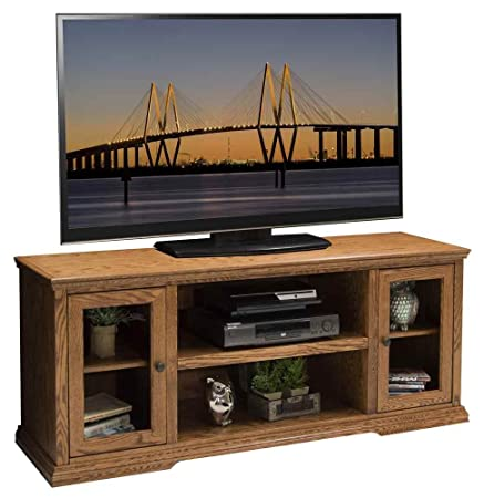 61.75 in. TV Cabinet in Golden Oak Finish