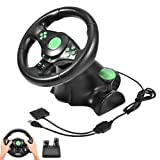 USB 180 Degrees Gaming Vibration Racing Steering Wheel Pedals for XBOX 360/ PS2/ PS3/ PC PlayStation Accessories