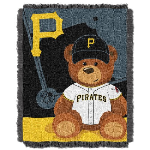 MLB Pittsburgh Pirates Field Woven Jacquard Baby Throw Blanket, 36x46-Inch