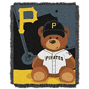 MLB Pittsburgh Pirates Field Woven Jacquard Baby Throw Blanket, 36x46-Inch by Northwest