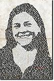 Diana Gabaldon Unique Typographic Portrait - Art Print on Glossy Photographic Paper - Unique Poster Gift 12x8