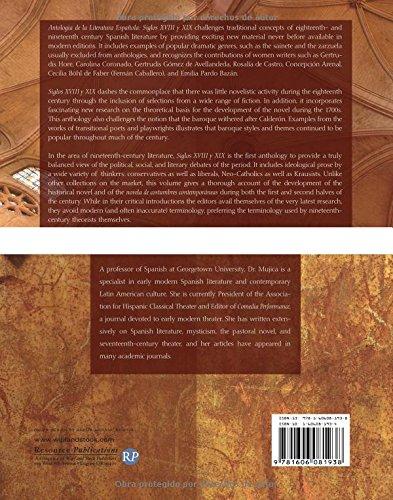 Antologia de la Literatura Espanola: Siglos XVIII y XIX: Siglos XVIII y XIX (Spanish Edition)