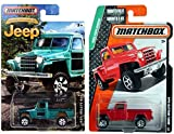 Matchbox Jeep Willys 4x4 Red and Special Edition Vehicle Set of 2 Cars