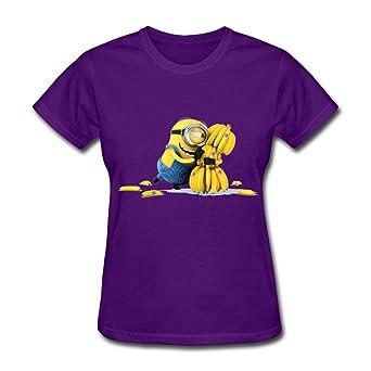 RUIFENG Woman's Minions Banana T-shirt