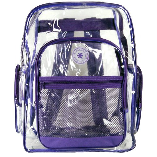 ... Purple Wholesale Clear PVC Backpacks Bulk Transparent School Book Bags