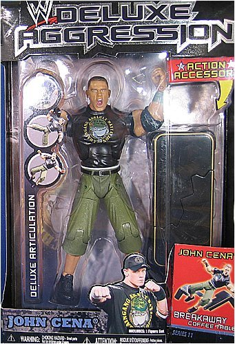 Buy Low Price Jakks Pacific W Deluxe Aggression Series 11 Action Figure + Action Accessory – John Cena (B0014F3HPK)