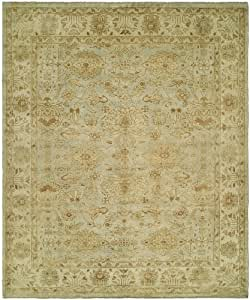 Oushak handknotted area rug 6x9 for Living room rugs 6x9