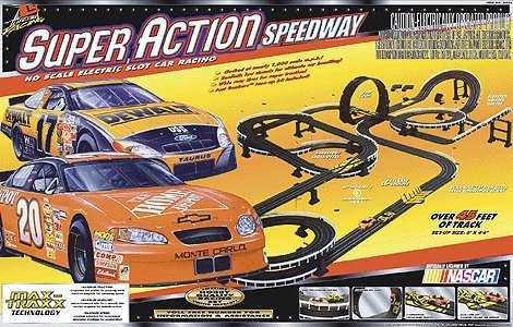 Life-like Racing Roadracing Set Super Action Speedway (New Deco) – Ho-scale
