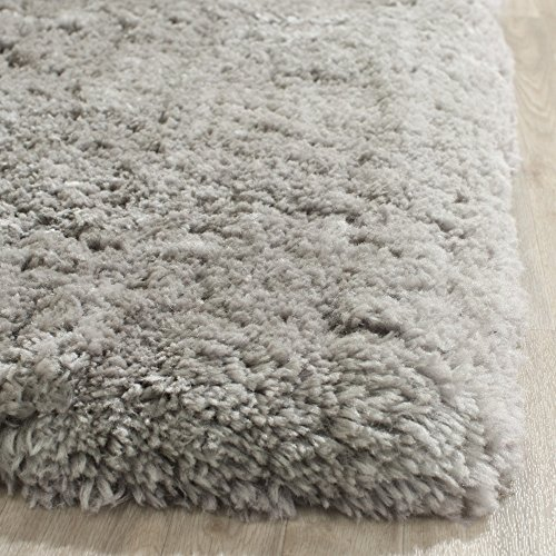 Safavieh Artic Shag Collection SG270G Handmade Grey Polyester Area Rug, 6 feet by 9 feet (6' x 9')