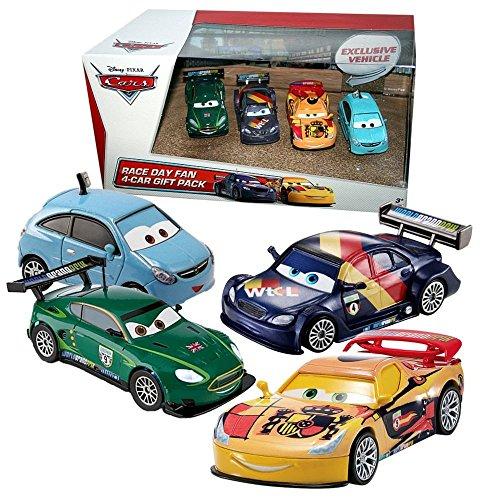 Disney Cars Cast 1:55 - Gift Pack Race Day Fan 2 - 4 Fahrzeuge im Set