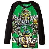 Teenage Mutant Ninja Turtles Big Boys' Long Sleeve Tee Shirt, Green/Black, Large/  14/16