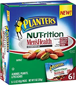 Planters Recommended Men's Health Nutrition Mix Multipack, 9-Ounce (Pack of 3)