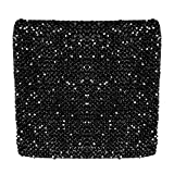 Zeagoo Womens Bandage Shiny Glitter Sequin Bodycon Panel Party Short Mini Skirt