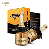 Auxbeam LED headlights F-S3 Series H4 LED Headlight Bulbs with 2 Pcs of H4 Headlights Conversion Kits 72W 8000LM PHILIPS CSP Chips Fog Light - 1 Year Warranty