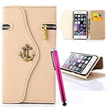 buy S4 Case, Jcmax [Zipper Feature] Flip Wallet Pu Leather Case Folio Cover With Strap [Kickstand Function] [Card Slots] [Cash Holder] For Samsung Galaxy S4
