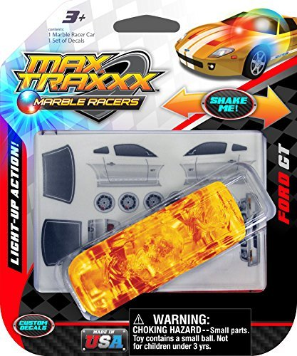 Max Traxxx Ford GT Light Up Marble Racer Car - 1