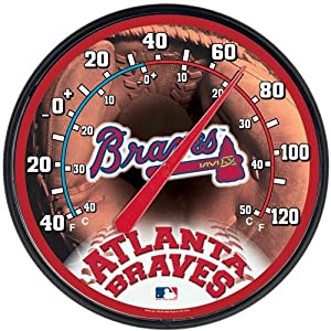 Atlanta Braves Round Wall Thermometer by WinCraft