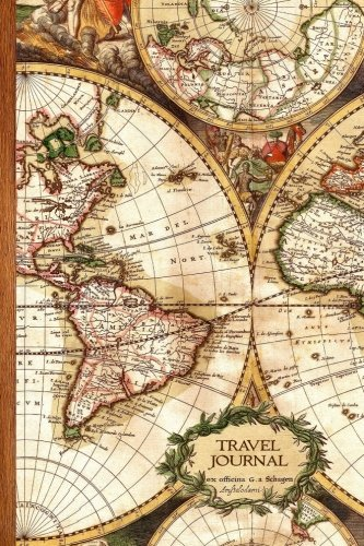 Travel Journal: Gifts / Gift / Presents ( Ruled Travelers Journal / Large Notebook with Antique Map Cover ) (Travel & World Cultures)