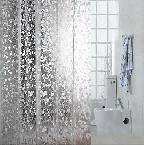 eforcurtain heavy duty 14 gauge cobblestone waterproof shower curtain liner 100 eva
