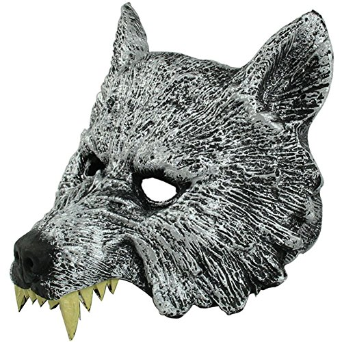 AnVei-Nao Womens Mens Wolf Head Werewolf Masquerade Mask Costume Halloween Party