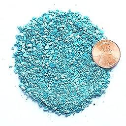 Natural Crushed Kingman Turquoise Stone Inlay, Medium, 1/2 ounce