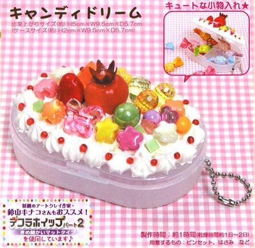 DIY jewel case clay set whipped cream fruit Kaki Japan