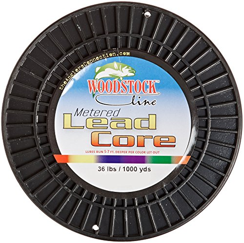 Woodstock 36 pounds metered lead core fishing line by for Lead core fishing line