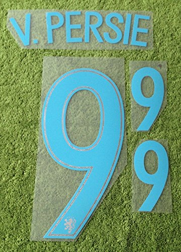 V.PERSIE #9 Holland Away 2016-2017 Soccer Jersey Netherlands Football Shirt Print Transfer Name Number Set Adults