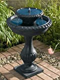 Smart Solar/Smart Solar 27470R01 Blenheim Two-Tier Solar Fountain. Black