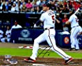 "Freddie Freeman Atlanta Braves Autographed 8"" x 10"" Hitting in White Photograph - Fanatics Authentic Certified"