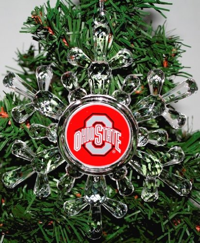 "Ohio State Buckeyes NCAA Snowflake 4 1/2 "" Ornament"