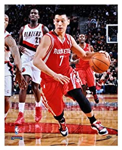 Jeremy Lin Houston Rockets Autographed 16