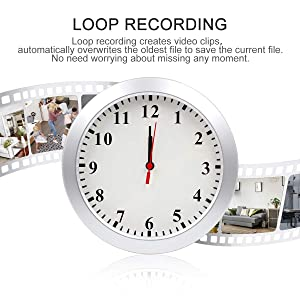 Hidden Camera Wall Clock Camera WIFI Spy Camera, NANIBO 1080P Nanny Cam DVR with Motion Detection,Real-Time Covert Clock Security Camera Monitor for Home and Office