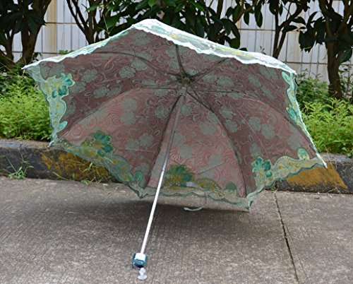 blomiky women 39 s elegant hollow embroidery portable anti uv umbrella parasol home garden. Black Bedroom Furniture Sets. Home Design Ideas