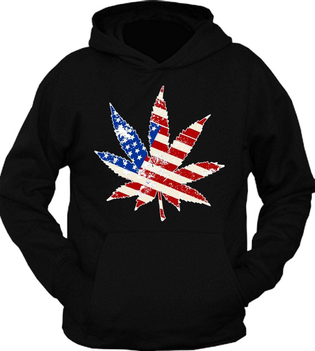 Vintage Weed American Flag 420 Hoodie