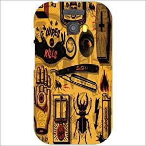 Micromax Bolt A064 Back Cover - Silicon Abstract Desiner Cases