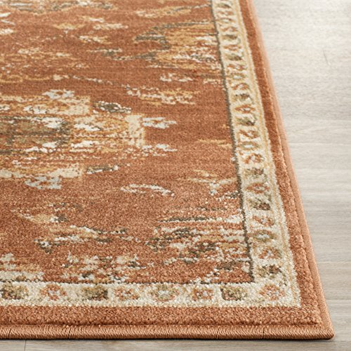 Safavieh Florenteen Collection FLR128-3412 Rust and Ivory Runner, 2 feet by 8 feet (2' x 8')