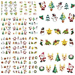 Christmas Santa Snowman Tree Nail Art Sticker Water Transfer Decals / s: . Multi mix Christmas style design, perfect for nail DIY . . Easy and convenient way to decorate your nail . . Make
