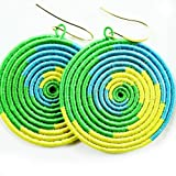 Small Yego Wave Earrings (Green, Yellow, Blue)