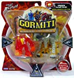 Gormiti Series 1 Action Figure 2-Pack Fiery Hammer and Earthshaker (Random Colors)