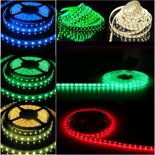 Happy Hours® 1-30 M Smd 5050 30 Led/M Waterproof Flexible Multicolor Rgb Led Light Strip Changing Led Strip Kit Great Decoration For Christmas Lighting, Indoor / Outdoor Rope Lighting, Ceiling Light, Kitchen Lighting + 12V Power Supply + 44 Key Remote Con