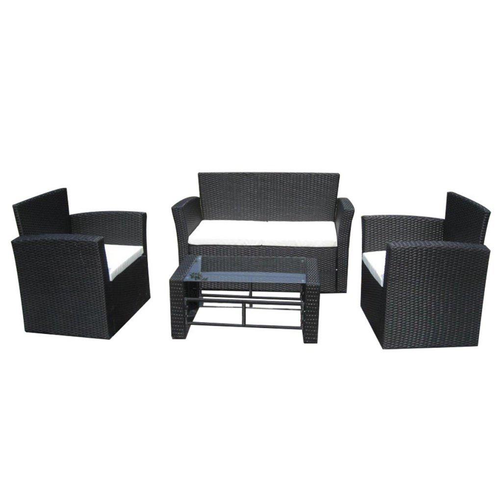 vidaXL Poly Rattan Lounge Gartenmöbel Set schwarz bestellen