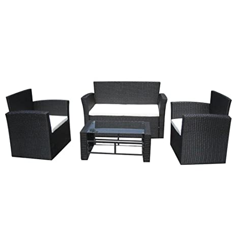 Festnight Poly Rattan Lounge Gartenmöbel Set Gartengarnitur Sitzgruppe 2 Farbe Optional