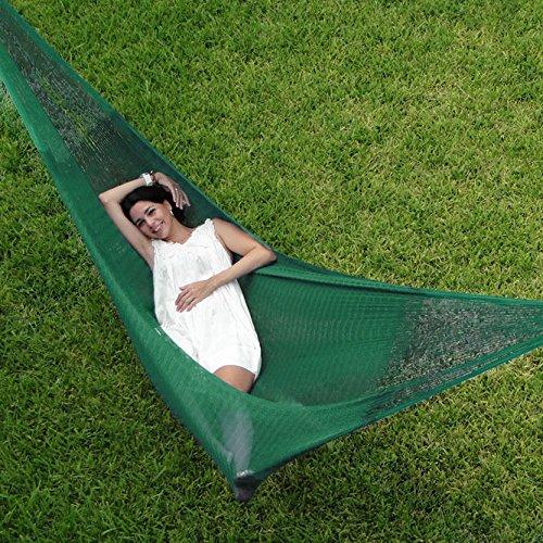 Sunnydaze Decor HM4DG Durable Green 59″ W x 157″ L Double Mayan Hammock