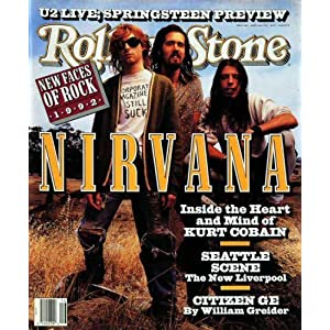 Rolling Stone Cover of Nirvana / Rolling Stone Magazine Vol. 628, April 16, 1992, Art Print by Mark Seliger