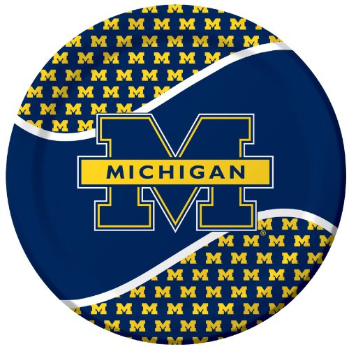 Michigan Wolverines 9-Inch Plates