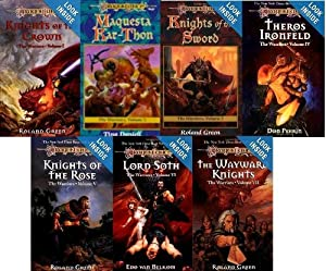 Dragonlance Warriors Series 1-7 (Knights of the Crown, Maqusta Kar-thon, Knights of the Sword, Theros... by Roland Green, Tina Daniell, Don Perrin and Edo van Belcom